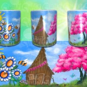 the potting shed mug by artist loren