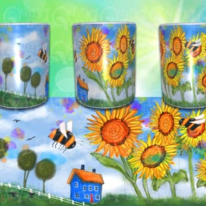 whimsical world 2 mug by artist loren
