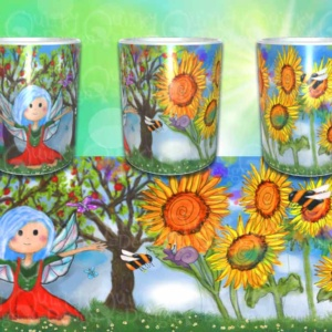 blue faery mug by artist loren